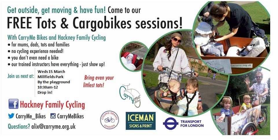 Cycling event for Tots and carers in the Park - March 15