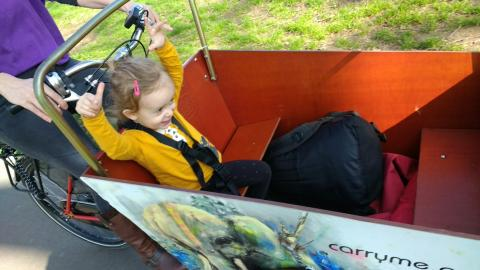 toddler in cargobike